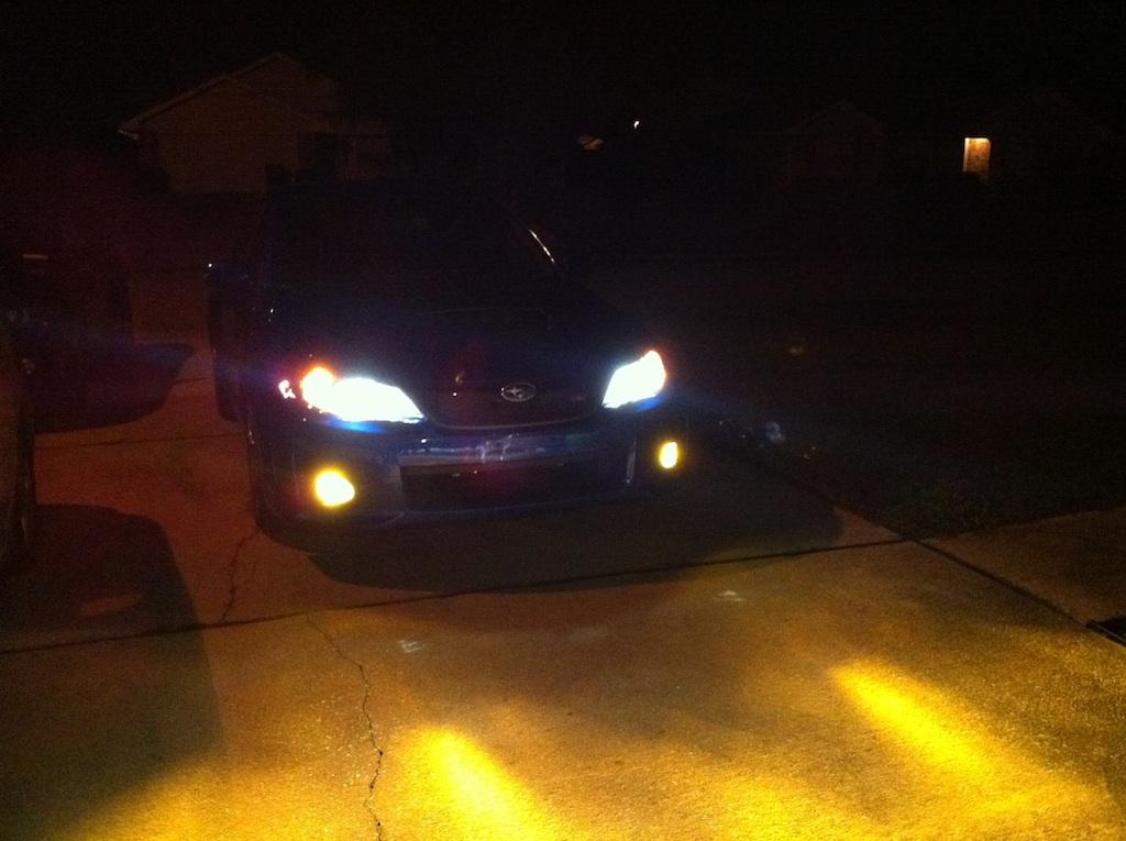 Yellow Fog Lite Bulbs Vs Yellow Fog Lite Overlays Subaru